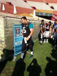 JAGUARS quarterback of the future, Blake Bortles.