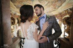 Stylizacja ślubna od Giacomo Conti: Lace Wedding, Wedding Dresses, Wedding Hairstyles, Ruffle Blouse, Women, Fashion, Bride Dresses, Moda, Bridal Gowns