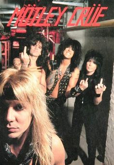 Vince Neil, Tommy Lee, Mick Mars and Nikki Sixx ❤️ Nikki Sixx, Hair Metal Bands, 80s Hair Bands, 80s Rock Bands, Glam Metal, Rock Y Metal, Mick Mars, Vince Neil, Tommy Lee