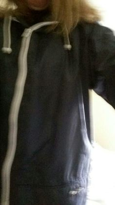 navy blue peter storm cagoule and nothing else