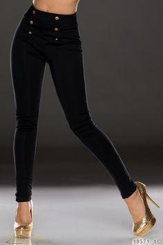 Nohavice s vysokým pásom Capri Pants, Black Jeans, Fashion, Moda, Capri Trousers, Fashion Styles, Black Denim Jeans, Fashion Illustrations