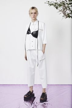 At least it's not as overdone as the bandana. For a variation on this MM6 Martin Margiela look, just tie the bikini top on over a T-shirt worn with culottes and dorky shoes.   - MarieClaire.com