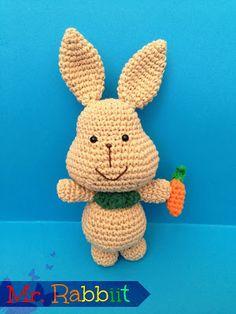 The Carmelita Amigurumi: Mr. Crochet Bunny Pattern, Crochet Rabbit, Crochet Motif, Free Crochet, Crochet Baby, Crochet Patterns, Amigurumi Free, Amigurumi Patterns, Amigurumi Doll