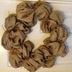 Wool wreath idea