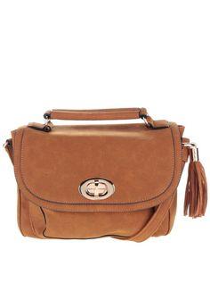 Hnedá kabelka v semišovej úprave so strapcom Dorothy Perkins