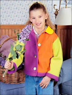 Bright Fleece Jacket Free Sewing Pattern