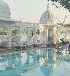 Beautiful palace hotel in India