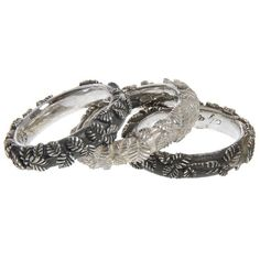 UGO CACCIATORI Tiny Leaves Ring Set ($265) ❤ liked on Polyvore