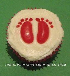 foot print cupcakes