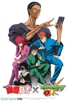 Yu Yu Hakusho x Monster Strike Collab Art Yu Yu Hakusho Anime, Manga Anime, Anime Art, Monster Strike, Fox Boy, Good Anime Series, Yoshihiro Togashi, Popular Anime, Anatomy Drawing
