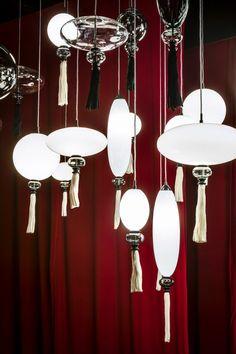 Marcel Wanders' Calliope lighting reinterprets traditional paper lanterns