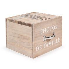 Boîte 6 albums photo en bois 13 x 17 cm FELICITE
