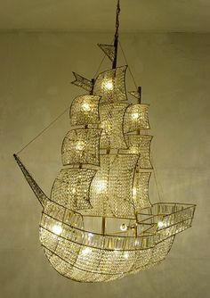 Hans van Bentem  Pirate Ship Chandelier