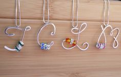 love the idea of the birthstone crystals incorporated in these beautiful letters