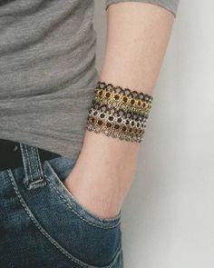 Dagens armbånd   #diy #krea #blogger #inderstinde #delica #perler #pearls #armbånd #bracelet #seedbeads #smykker #jewelry by inderstinde