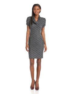 Evan Picone Women's Chevron Waves Cowl Neck Dress, Charcoal Combo, 8 Evan Picone,http://www.amazon.com/dp/B00DN499Q6/ref=cm_sw_r_pi_dp_E8Iptb1QWKP080AS