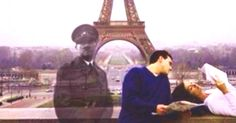 In 2013, two lovers read to each other in front of the Eiffel tower. 70 years ago, Hitler stood only a few inches away.