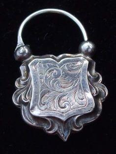 Sterling silver Victorian padlock