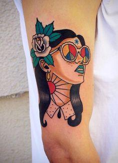 45 Ideas tattoo old school sleeve pin up for 2019 Pin Up Tattoos, Pretty Tattoos, Love Tattoos, Beautiful Tattoos, Body Art Tattoos, New Tattoos, Tattoos For Women, Color Tattoos, Tatoos