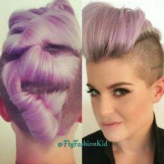 Kelly Osborne Mohawk pastel purple BarbaraBeauté