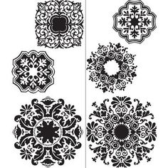 WallPops® Wall Art Kit with Mirror Baroque Medallions - to appease Juliana (so no black walls) $30