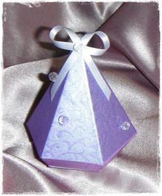 Lembrança Diamante em 3D, com bolinhas de Cristal