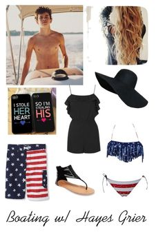 """""""Boating w/ Hayes Grier"""" by lowkey-lex ❤ liked on Polyvore featuring Wet Seal and Topshop"""