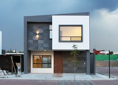 200 square meter house with 2 floor and kick nice modern architecture. House Floor Design, Bungalow House Design, Modern Small House Design, Modern Villa Design, Duplex Design, Townhouse Designs, Square House Plans, House Elevation, Facade House