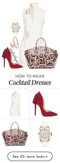 """Untitled #4117"" by stylistbyair on Polyvore featuring Thierry Mugler, Alexander McQueen, Aleksander Siradekian, Monica Vinader and GUESS"