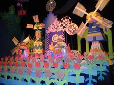 """It's a Small World: Holland - The design of the """"it's a small world"""" dolls was created by Walt Disney Imagineering art director Mary Blair. Her sense of design and use of color and shapes enhanced the storytelling of the attraction and have influenced each version of this attraction."""