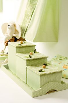 Trio de potes com patchwork / DIY, Craft, Upcycle