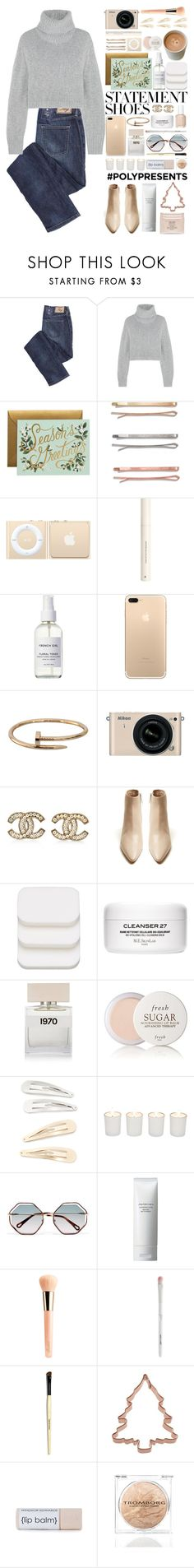 """""""#PolyPresents: Statement Shoes"""" by ludocottoncandyprincess02 ❤ liked on Polyvore featuring Dion Lee, Madewell, H&M, French Girl, Cartier, Nikon, Chanel, COVERGIRL, Bella Freud and Fresh"""