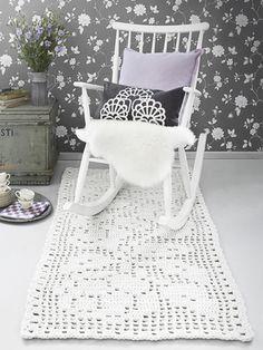 Nordic Yarns and Design since 1928 Crochet Mat, Crochet Rug Patterns, Crochet Carpet, Doily Patterns, Crochet Home, Beige Carpet, Diy Carpet, Rugs On Carpet, Where To Buy Carpet
