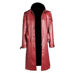 King of Fighters 14 Iori Yagami Gaming / Halloween Long Jacket Leather Trench Coat Mens - 3XL / Faux Leather