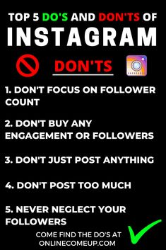 """There are a lot of unspoken rules in Instagram in regards to the algorithm, decency and not being spammy.   Here are some of the most important things you should not do. If you follow this you'll have more success in Instagram, and certainly grow your following and maybe even make some friends along the way. Come find the even more important """"Do's"""" at the link!  There's always room for improvement, and I hope that you've learned from some of my mistakes. Tell me if I've forgotten anything!"""