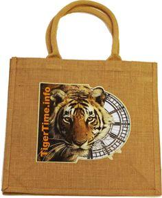 Jute Short Handled Shopper, TigerTime Online Store Jute, Burlap, Reusable Tote Bags, Store, Animals, Animales, Hessian Fabric, Tent, Shop Local