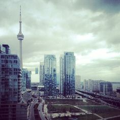 The CN Tower stands tall on a gloomy day in #Toronto. Photo courtesy of mybeautifulpari on Instagram.  http://toronto.awesome-canada.com/ #toronto #canada