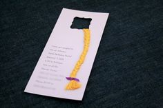 Tangled Tower Birthday Party Invitations