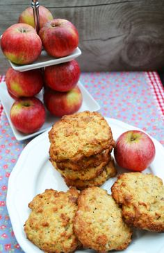 Apple and walnut Herrlich wie die duften! Apfel-Walnuss-Cookies Delightful as the scents! Apple and walnut cookies -