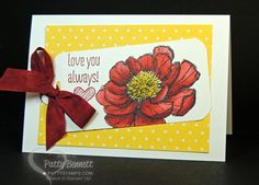 Patty used her Blendabilities on this Bloom with Hope flower. She also posted 2 videos on the markers. All supplies from Stampin' Up!