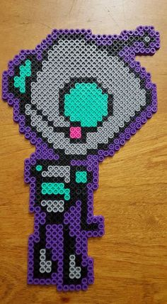 Robot Gir (Invader Zim) perler beads by LadyRaveicorn
