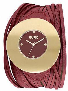 Relógio Feminino Euro Aprilia - EU2035MB/2R   Loja Virtual My Clock