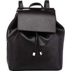 Barneys New York India Mini Backpack ($149) ❤ liked on Polyvore featuring bags, backpacks, accessories, black, leather rucksack, black leather backpack, mini leather backpack, black leather knapsack y real leather backpack