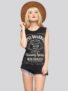 Whiskey Dreams Muscle Tank - Gypsy Warrior