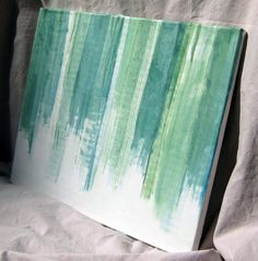 Sea Glass Green Watercolor Painting