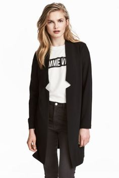 Long jacket - Black - Ladies | H&M GB 1