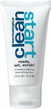 Clean Start Ready, Set, Scrub! from Dermalogica [2.5 OZ] by Dermalogica. $18.99. Our Best Skin available. Dermalogica Clean Start Ready, Set, Scrub! Masque and scrub pore-refining duo that delivers smoother, clearer and fresher skin Purifying clays pull excess oil from skin, deep-cleaning pores and help to control shine Cooling Menthol eases redness while refreshing skin Silica polishes skin to a smooth, brighter finish and scrubs away clogging dead skin cells *Details ...