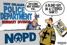 The News In Cartoons - Walt Handelsman/The New Orleans Advocate Saints Game, Nfl Saints, New Orleans Saints Football, Funny Sports Memes, Sports Humor, Funny Memes, Hilarious, Best Football Team, Football Memes
