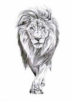 Lion Walking--kinda like this compared to just the head but not sure I'm sold on it, something to consider
