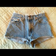Urban Outfitters Levi's Renewal Shorts High-waisted Levi Shorts; fit a size 24 comfortably and can work with size 25 as well Shorts Jean Shorts
